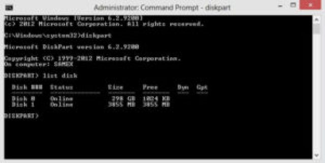 Type list Disk And Enter