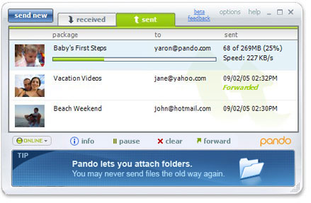 pando large files online