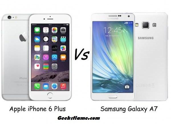 galaxy a7 vs iphone 6 plus
