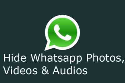 hide whatsapp images & videos