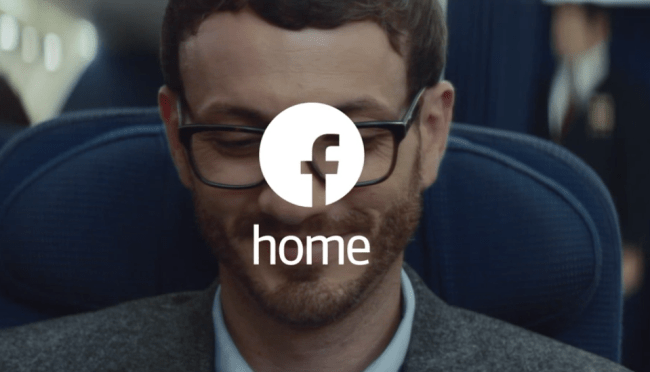 facebook home advert