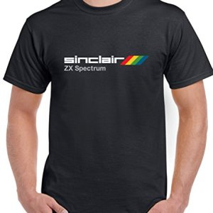 Sinclair-ZX-Spectrum-Mens-Retro-T-Shirt-DTGX3-Black-Large-0