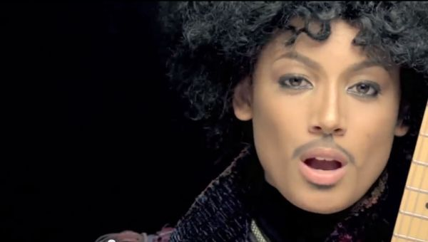 Screen Capture: Danielle Curiel impersonating Prince