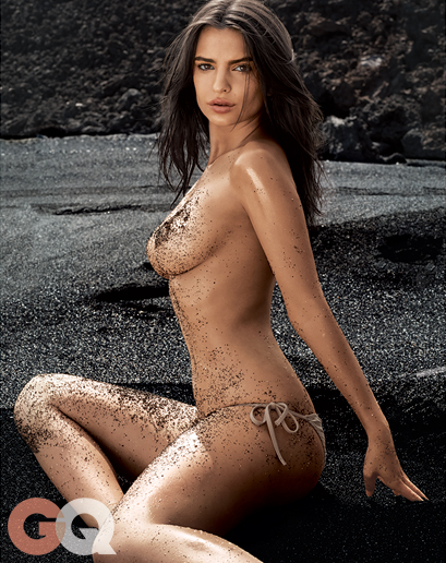 Emily Ratajkowski Naked and Dirty in GQ Shoot