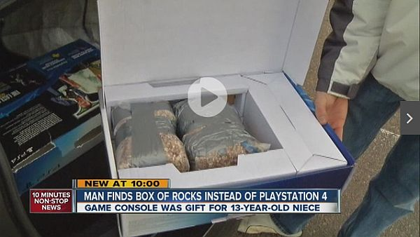 The PS4 Box Full Of Rocks Is a Wal-Mart Christmas Epic Fail