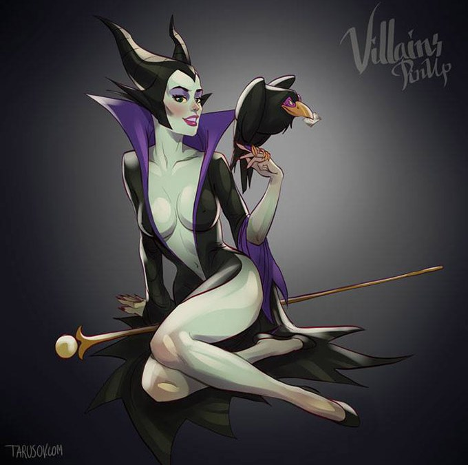 Sexy Disney Villain Pin-Up Posters