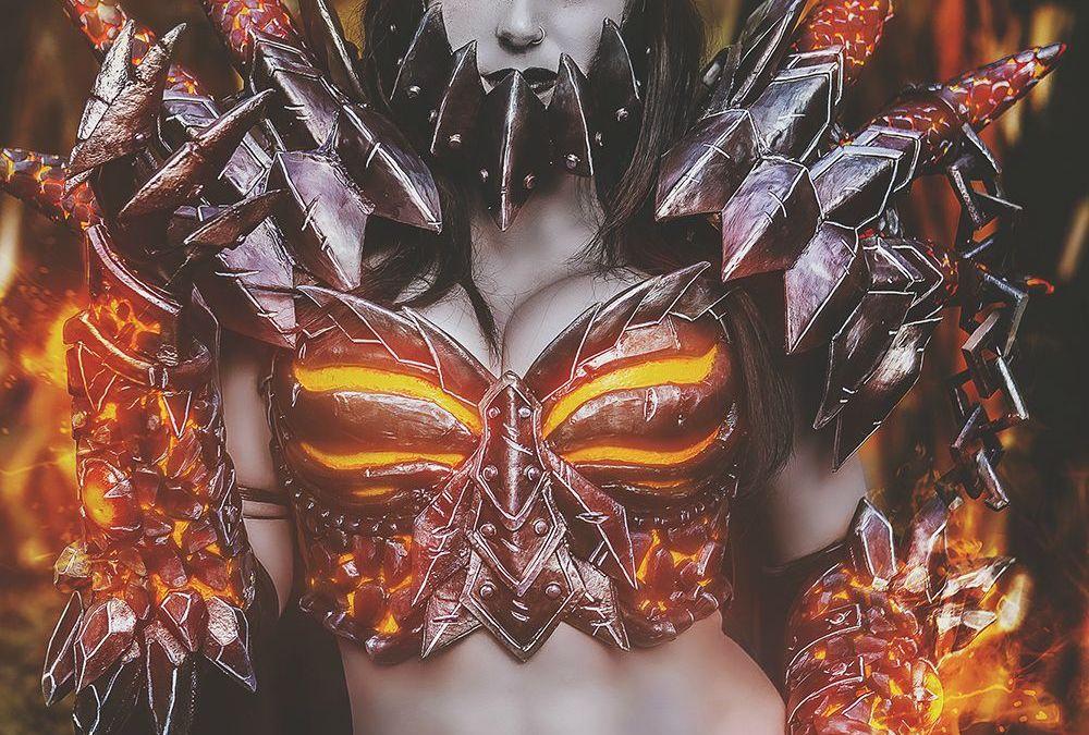 Jessica Nigri was Deathwing at Blizzcon 2015