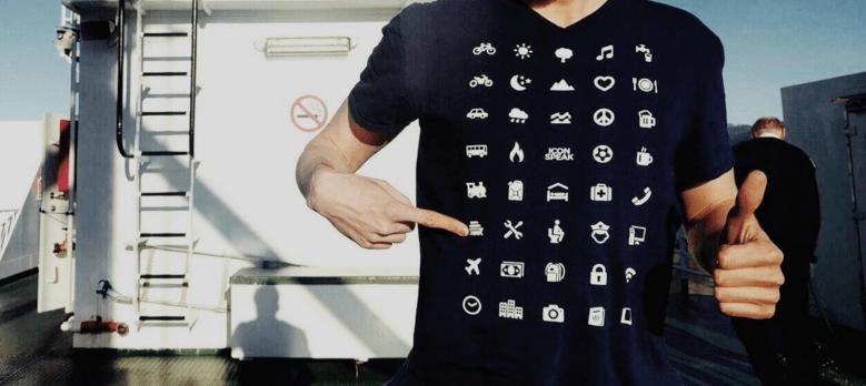 Iconspeak travel t-shirt