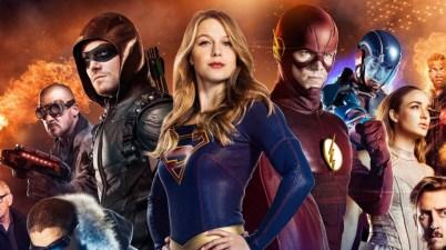 Supergirl, flash, arrow, legends banner