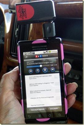 Jupiter Jack uses dashboard radio speakers for the Droid