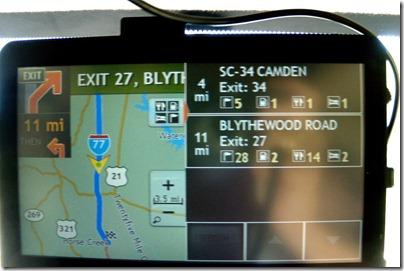 Next exit info on Rand McNally RVND GPS