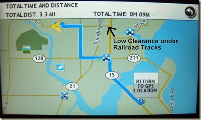The Rand McNally avoids the Low Clearance in its route
