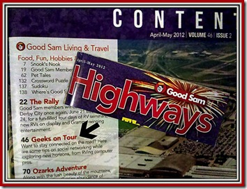Geeks on Tour published in Highways Magazine