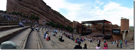 Red Rocks Amphitheatre, outside of Denver