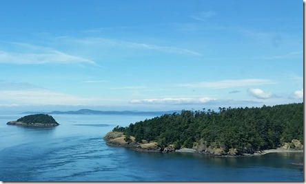 View from Deception Pass bridge on Whidbey Island, Washington state