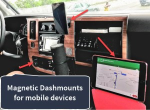Mounting phones and tablets to your dashboard