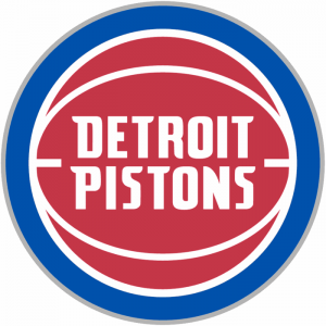 The Detroit Pistons logo of the NBA team