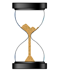 HTML5 Canvas - An egg timer (hourglass) with animated falling sand (1/5)