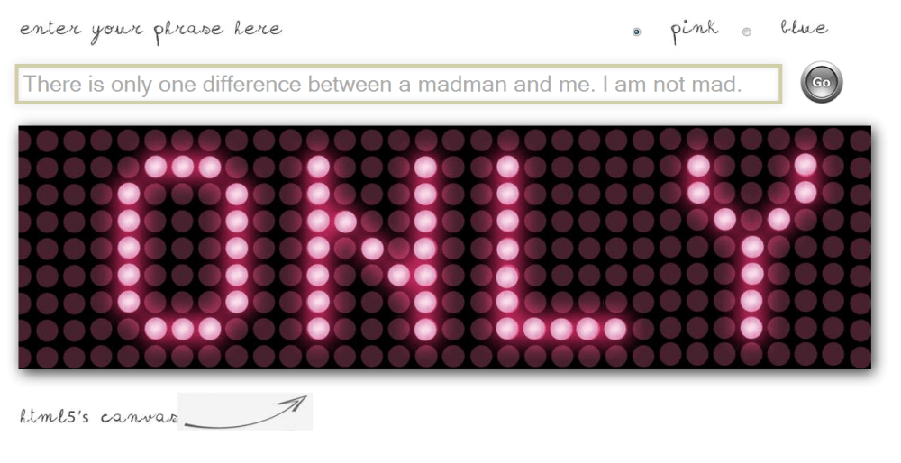 HTML5 LED scroller using a Canvas Element (1/2)