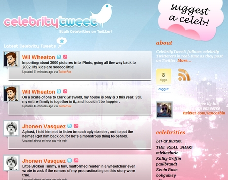 Celebrity Tweet