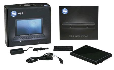 HP Mini 1000 MIE Package Content