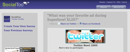 SocialToo Super Bowl Survey