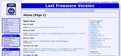 Last Freeware Version