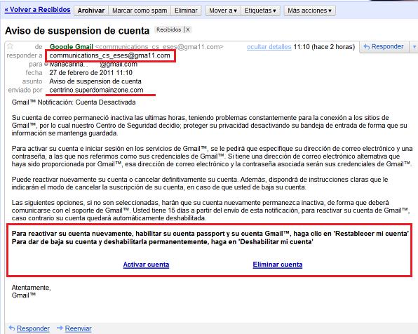 Gmail - Procedencia dudosa