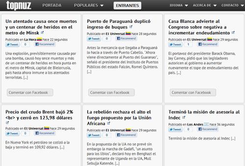 TopNuz, nuevo servicio de noticias en español e inglés que hace hincapié en las más relevantes 1
