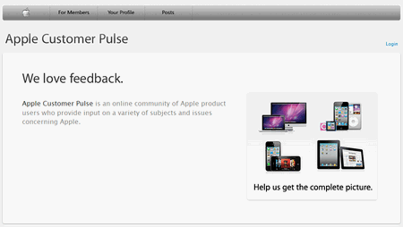Apple Customer Pulse, servicio de feedback 1