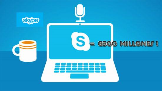 Microsoft compraría Skype por 8500 millones de dólares