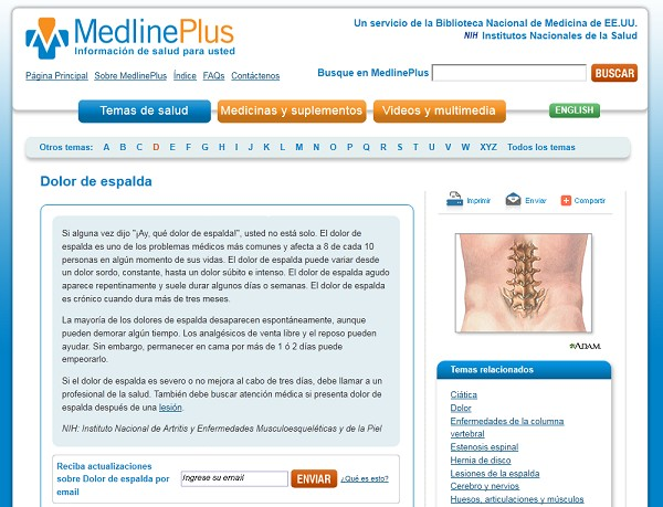 Dolor de espaldas - MedlinePlus