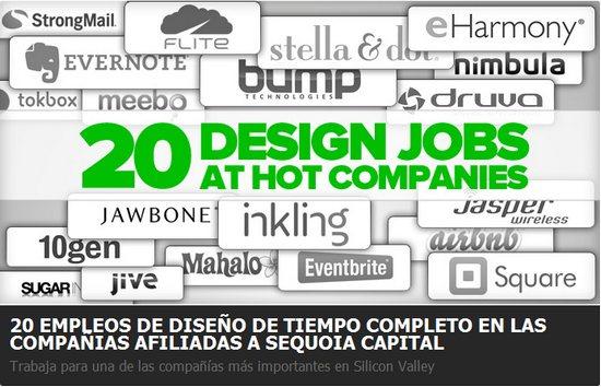 20 empleos en Silicon Valley para diseñadores gráficos de cualquier país