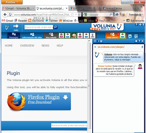 Volunia - Plugin Firefox