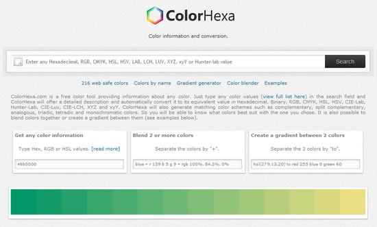 ColorHexa, la enciclopedia del color