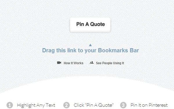 Tu frase o texto preferido en Pinterest con ayuda de PinAQuote