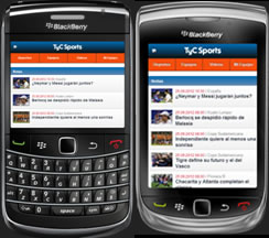 Sigue tu deporte favorito con aplicación de TyC Sports para BB / ARG