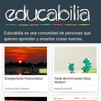 Educabilia: El espacio donde ofrecer o encontrar cursos, talleres o seminarios