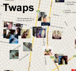 Twaps : Para ver qué se está diciendo en Twitter a tu alrededor