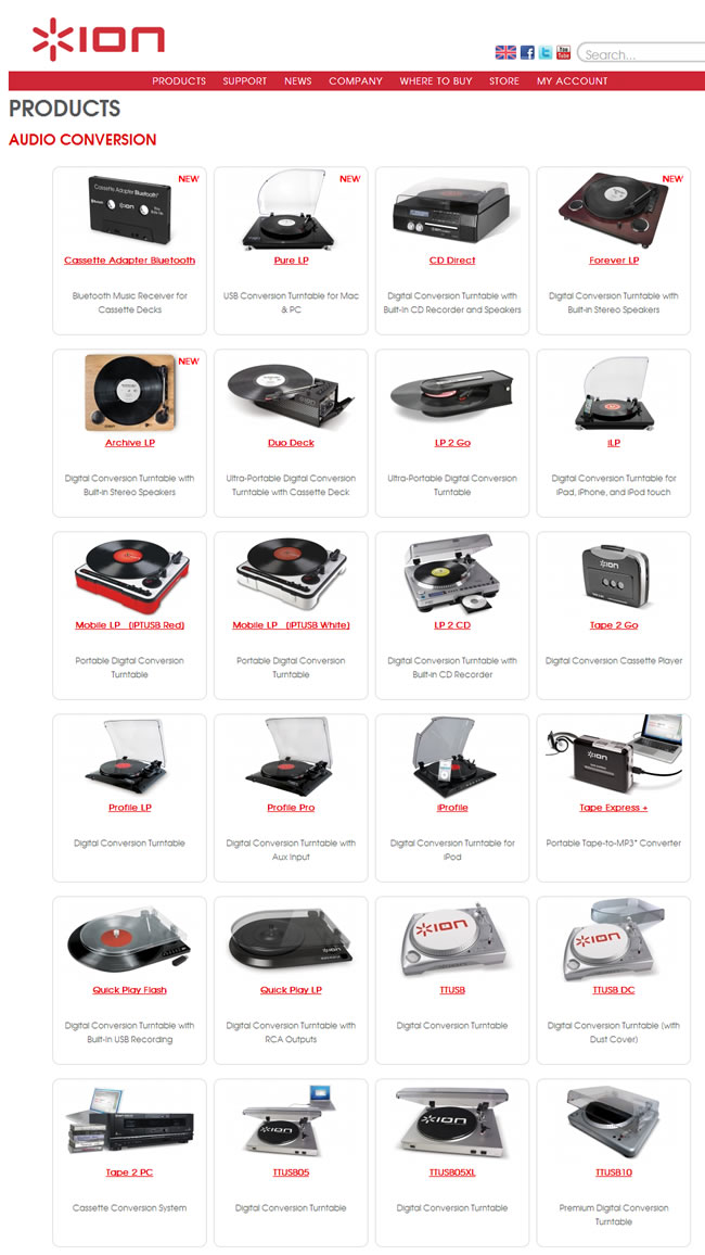 ION Audio Website