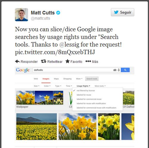 google-matt-cutts-tweet-image-usage-rights