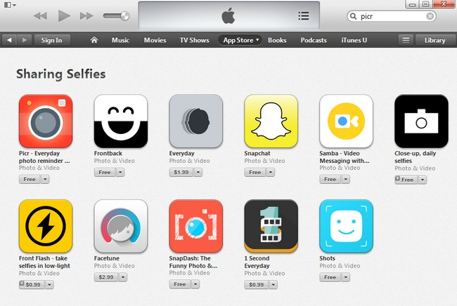 itunes-sharing-selfies-colection