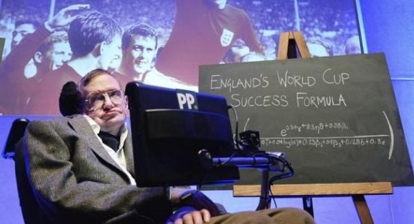 ¿Stephen Hawking tiene una fórmula para que Inglaterra gane el #Mundial2014 ?