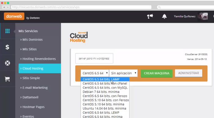 cloud-donweb-panel