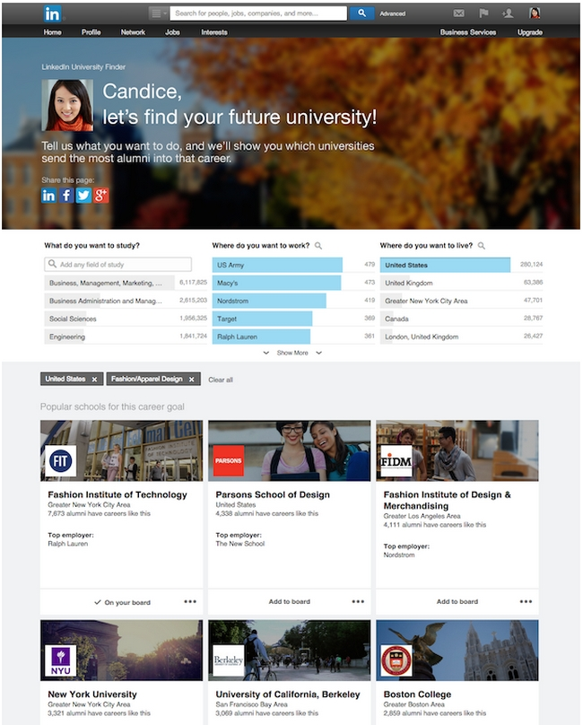 linkedin-university-finder