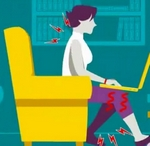 Trucos simples en una guía animada para obtener una buena postura corporal frente al ordenador