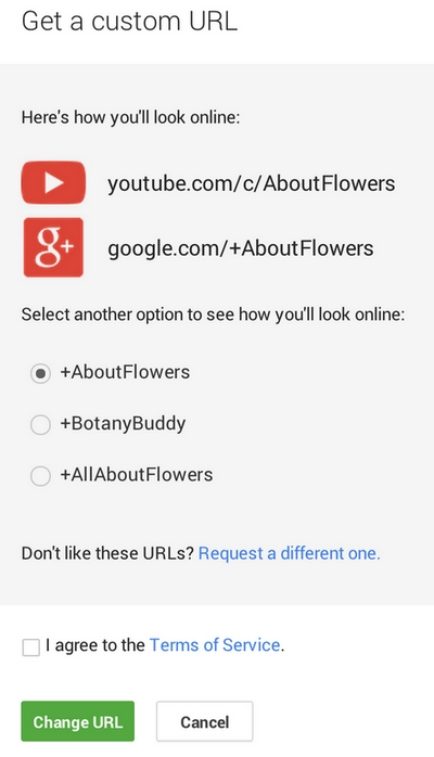 youtube-custom-url