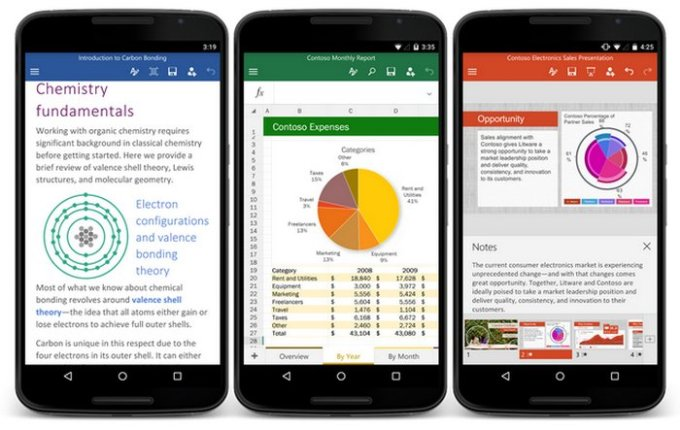 office-word-excel-powerpoint-smartphones-android