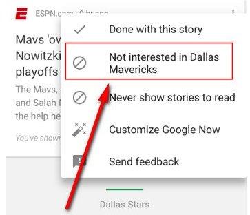 Google Now ahora permite bloquear fuentes de noticias