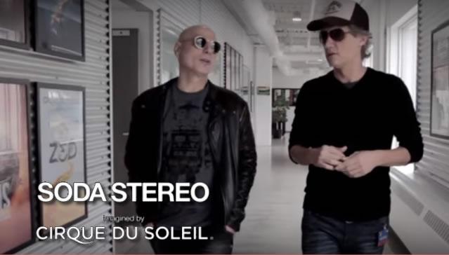 A través de facebook, fans de #SodaStereo crearán parte del show de Cirque du Soleil